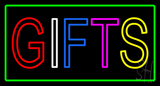 Gifts Green Rectangle Neon Sign