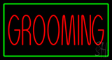 Grooming Green Rectangle Neon Sign