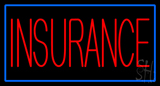 Red Insurance with Blue Border Neon Sign