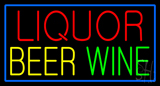 Liquor Beer Wine Neon Sign
