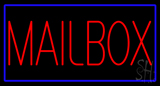 Mailbox Blue Border Neon Sign