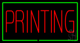 Red Printing with Green Border Neon Sign