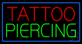 Tattoo Piercing Blue Border LED Neon Sign