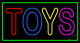 Multicolored Toys Green Border Neon Sign