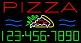 Pizza with Phone Number  Neon Sign