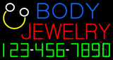 Body Jewelry with Phone Number Neon Sign
