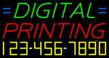 Digital Printing with Phone Number Neon Sign