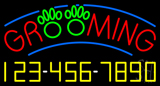 Grooming with Phone Number LED Neon Sign