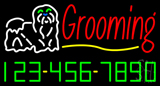 Dog Logo Grooming Phone Number LED Neon Sign