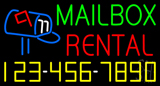 MailBox Rental with Phone Number Neon Sign