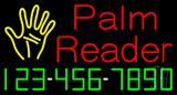 Palm Reader with Phone Number Neon Sign