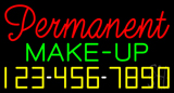 Rde Permanent Make-Up with Phone Number Neon Sign