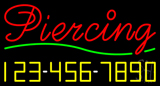 Cursive Piercing with Phone Number LED Neon Sign