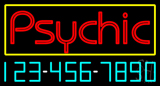Psychic with Phone Number Neon Sign