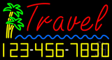 Travel with Phone Number Neon Sign