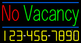 No Vacancy Neon Sign with Phone Number