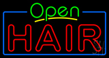 Open Double Stroke Hair Neon Sign