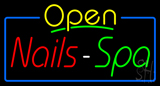 Yellow Nails Spa Open Neon Sign