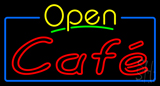 Yellow Open Cafe Neon Sign