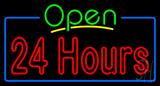 24 Hours Neon Sign