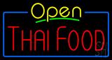 Open Thai Food Neon Sign