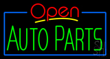 Red Open Green Auto Parts Neon Sign