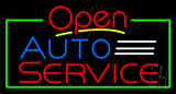 Auto Service Open Neon Sign