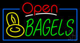 Open Bagels with Bagels Neon Sign