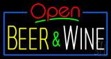 Open Beer and Wine Neon Sign