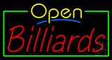 Open Billiards Neon Sign