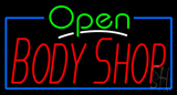 Open Body Shop Neon Sign