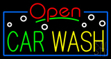 Open Car Wash Block Neon Sign