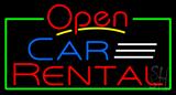 Open Car Rental Neon Sign