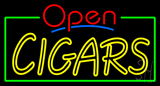 Red Open Double Stroke Cigars Neon Sign