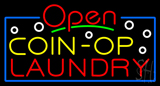 Red Open Coin Op Laundry Neon Sign