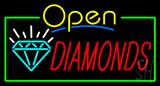 Diamonds Open Neon Sign