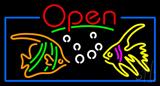 Tropical Fish Logo Open Neon Sign