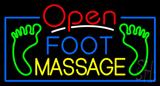Open Foot Massage Neon Sign