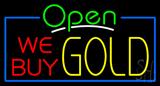 Open We Buy Gold Neon Sign