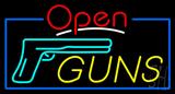 Open Guns Neon Sign