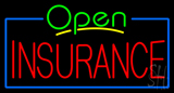 Green Open Insurance Neon Sign