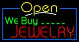 We Buy Jewelry Open Neon Sign