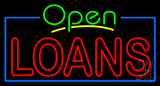 Green Open Red Double Stroke Loans Neon Sign
