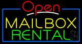 Open Mailbox Rental Neon Sign