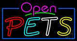 Open Pets Neon Sign