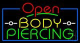 Red Open Body Piercing LED Neon Sign