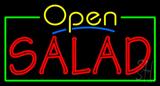 Open Double Stroke Salad Neon Sign