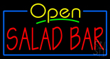 Open Salad Bar Neon Sign
