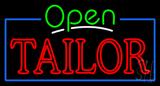 Green Open Double Stroke Tailor Neon Sign