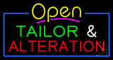 Open Tailor and Alteration Neon Sign